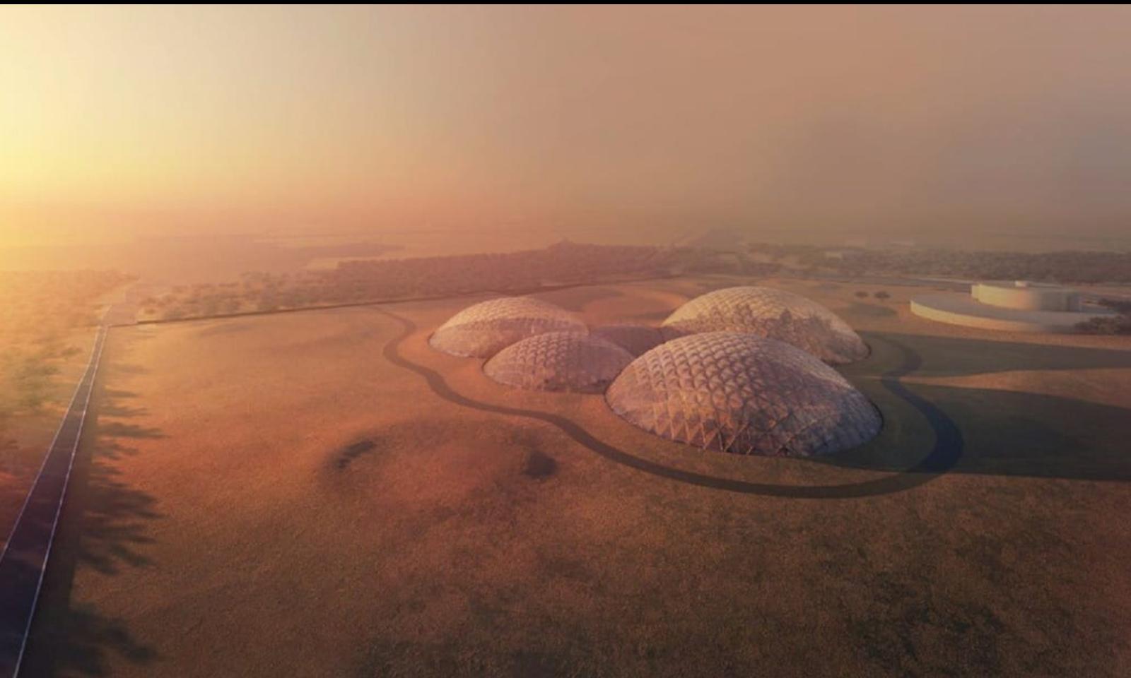 دبئی کے صحرا میں مریخ جیسے شہر کی تعمیر کا منصوبہ
