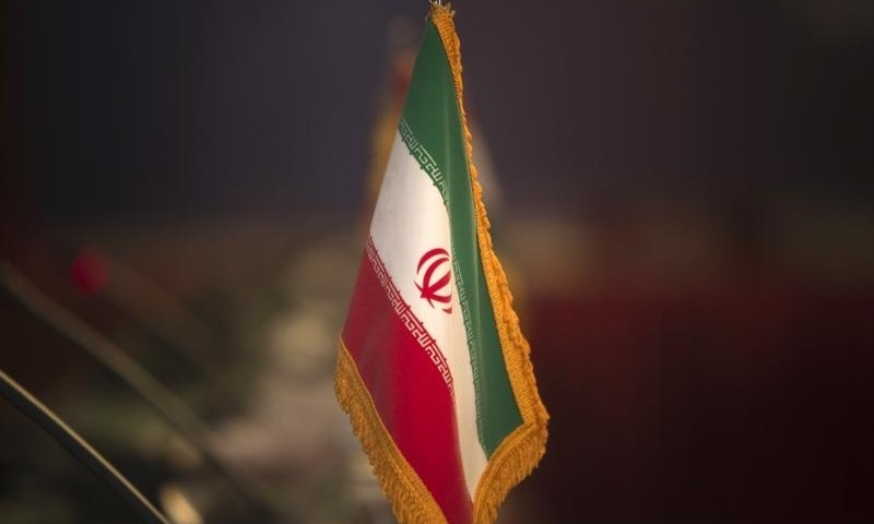 In this file photo, the Iranian flag is pictured before the opening of the 32nd Meeting of the Ministers of Foreign Affairs of G-15 in 2010. — Reuters