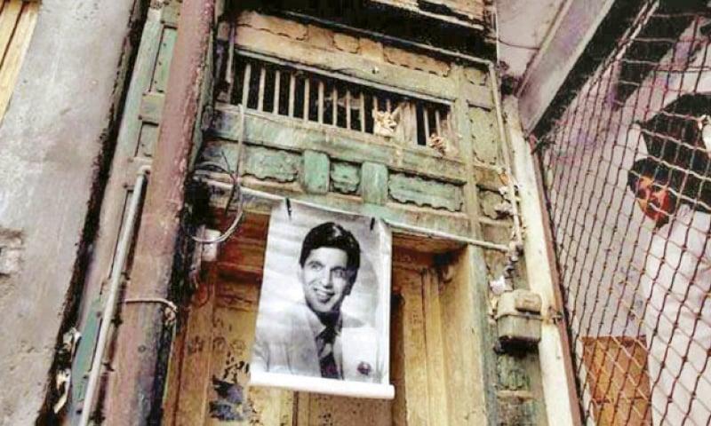 Raj Kapoor Haveli, Peshawar. (Right) The entrance to Dilip Kumar's house. — White Star