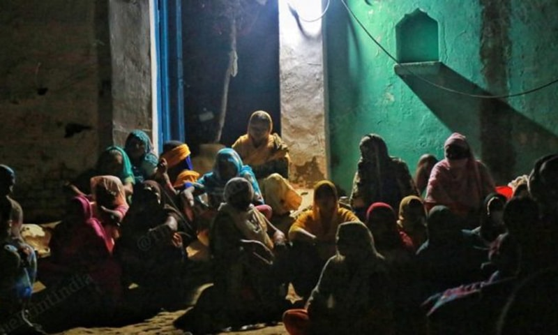 Women at the house of victim in Hathras, Uttar Pradesh. — Manisha Mondal, ThePrint