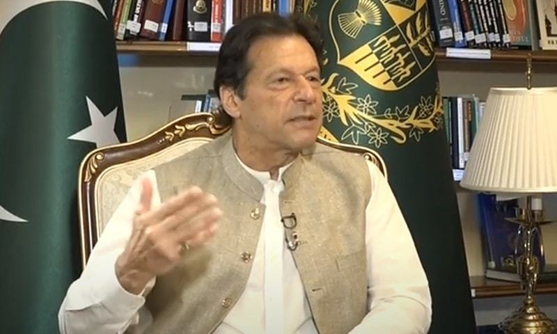 Prime Minister Imran Khan speaks during an interview on Samaa TV. — Photo: screengrab
