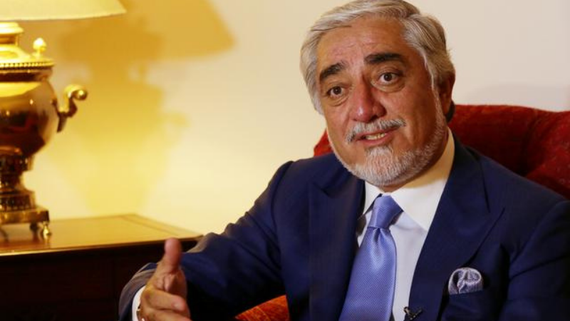 Head of  Afghanistan's peace council, Abdullah Abdullah, speaks during an interview with Reuters in Islamabad on Sept 30. — Reuters