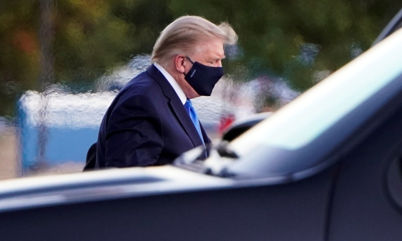 Trump moved to military hospital after Covid-19 diagnosis