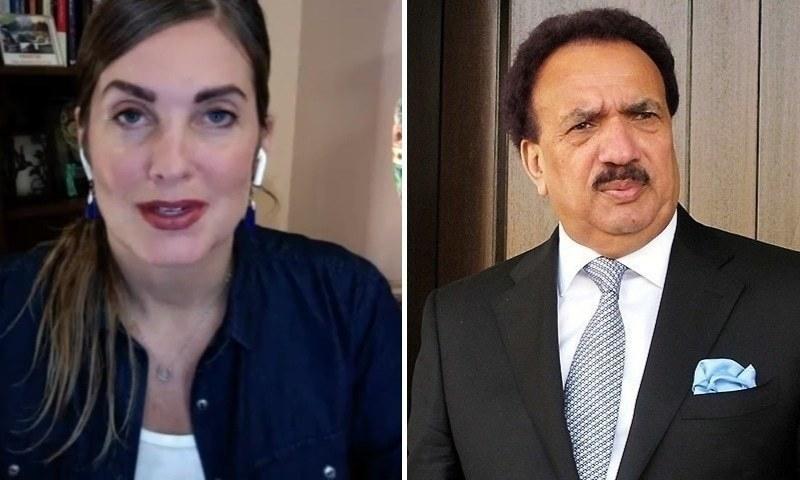 رحمٰن ملک کا امریکی بلاگر سنتھیا رچی کے خلاف مقدمات کی پیروی نہ کرنے کا فیصلہ