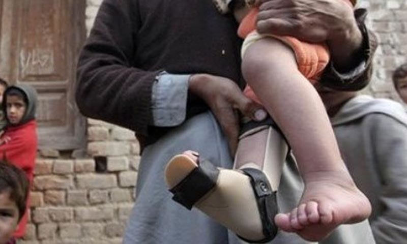 The number of polio cases has reached 21 during the current year in Balochistan. — AP/File