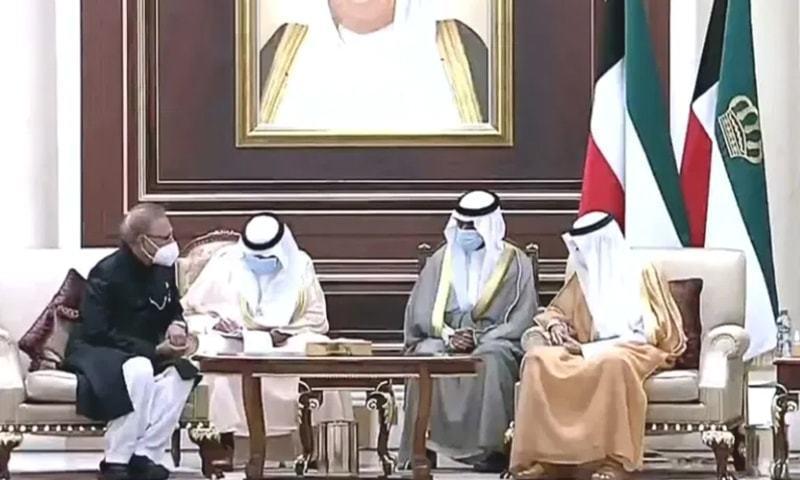 صدر مملکت عارف علوی کا دورہ کویت، شیخ صباح کے انتقال پر تعزیت