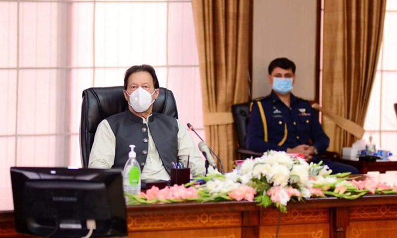 Prime Minister Imran Khan said the government would ensure abundant availability of wheat and sugar. — Photo courtesy Prime Minister's Office