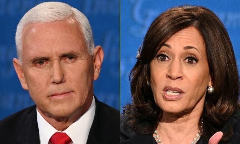 مائیک پینس اور کمالا ہیرس کی نائب صدارتی مباحثہ میں کووڈ 19 پر تکرار