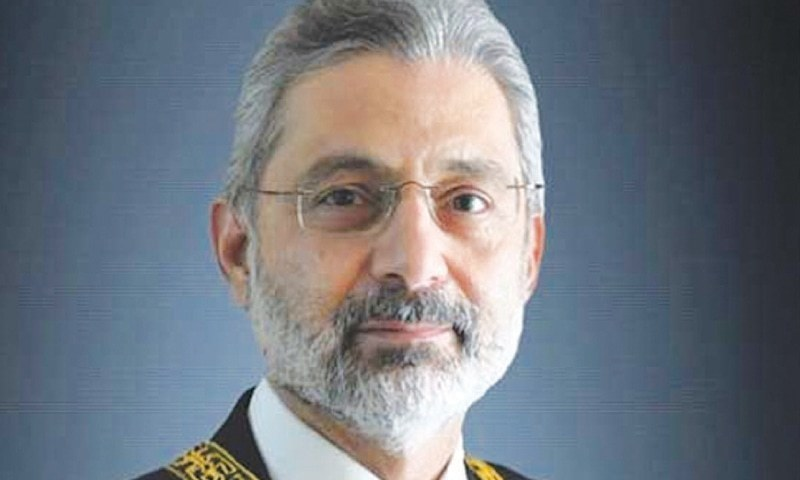 Justice Qazi Faez Isa observed that neither the Constitution nor any law entitled judges or senior members of the armed forces to receive plots or pieces of land. — Photo courtesy: SC website