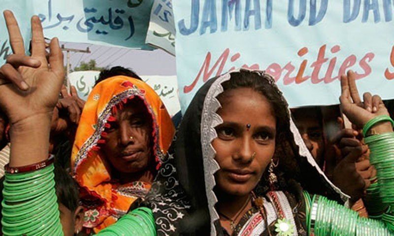 The major issues of minority communities were identified as forced conversion and kidnapping of girls and women. — AFP/File
