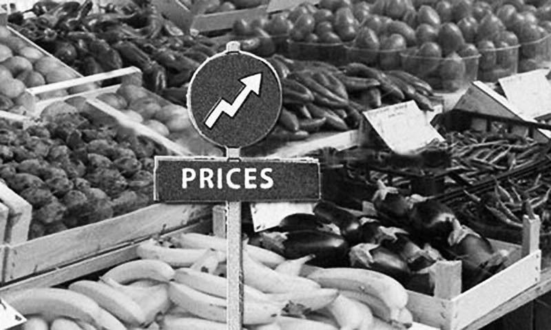 The Sensitive Price Index (SPI) is calculated based on the prices of 51 essential items from 50 markets across 17 cities of the country. — Dawn/File