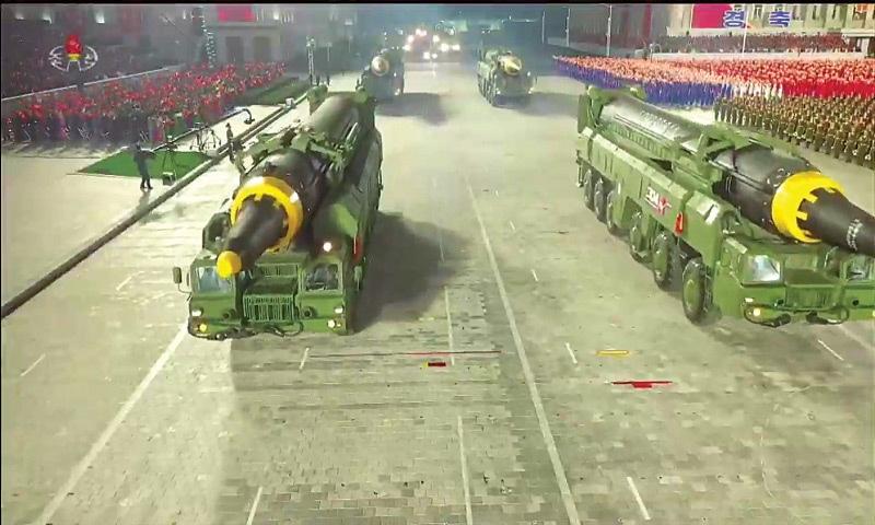 North Korea displays huge new ICBM at coronavirus-defying parade