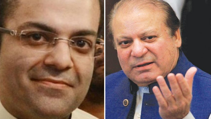The process to formally declare PML-N supreme leader and former prime minister Nawaz Sharif (R) and his nephew Salman Shahbaz (L) absconders in two separate references of NAB started with the issuance of proclamations on the directives of two accountability courts in Lahore. — File