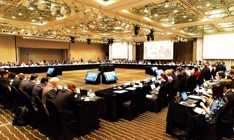 یہ رپورٹ ایک ایسے موقع پر سامنے آئی ہے جب دو ہفتے بعد ایف اے ٹی ایف کا اجاس منعقد ہونا ہے— فائل فوٹو: ایشیا پیسیفک گروپ