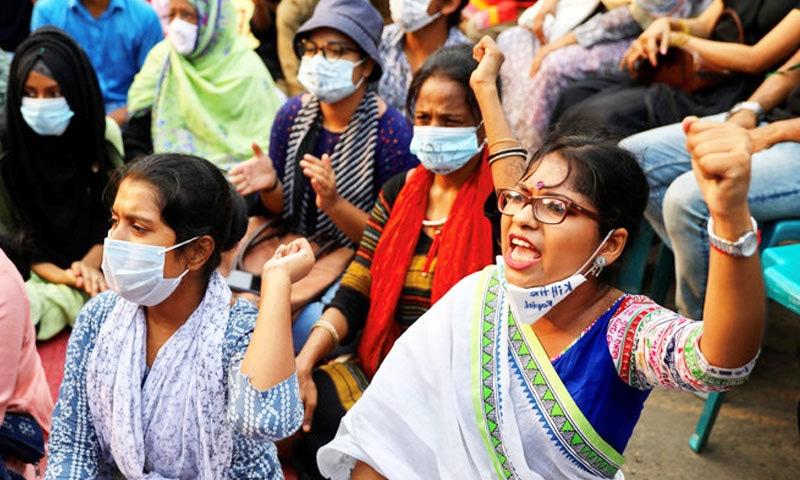 خواتین کے مطابق ان کا استحصال ہونے کے باوجود پولیس انہیں جھوٹا قرار دیتی ہے—فوٹو: رائٹرز