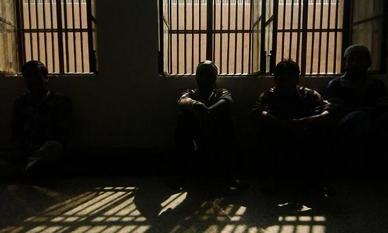 Picture shows jail inmates in an unspecified prison. — Creative Commons/File