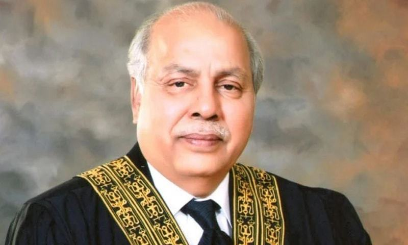 Chief Justice of Pakistan Gulzar Ahmed was heading a three-judge bench hearing a suo motu case regarding unannounced load-shedding in Sindh. — Photo courtesy Supreme Court website/File