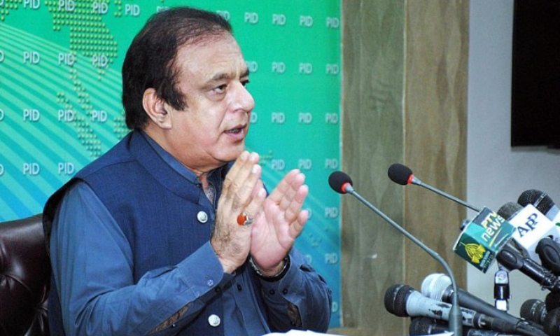 Federal Minister for Information and Broadcasting Senator Shibli Faraz addressing a press conference in Islamabad on Oct 13. — APP