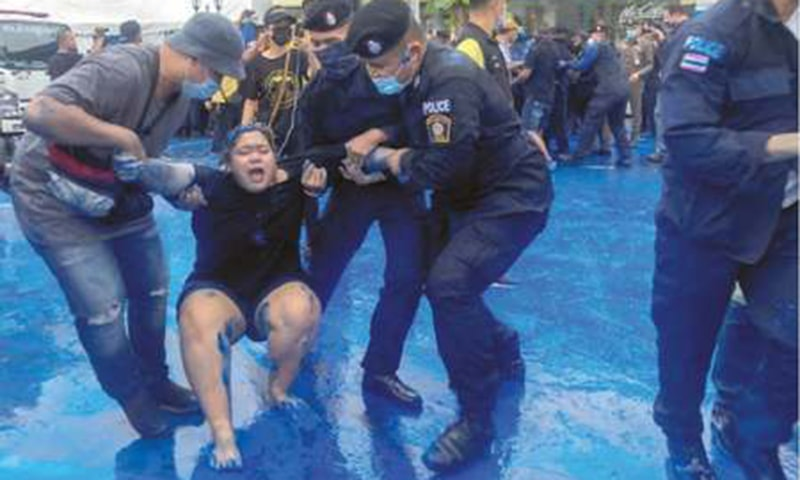 Police arrest 21 at pro-democracy rally in Thailand