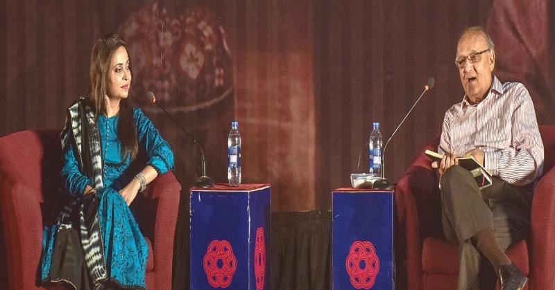 Amjad Islam Amjad speaks at the Arts Council.—White Star