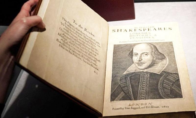 کتاب کو 1623 میں شائع کیا گیا تھا—فوٹو: رائٹرز