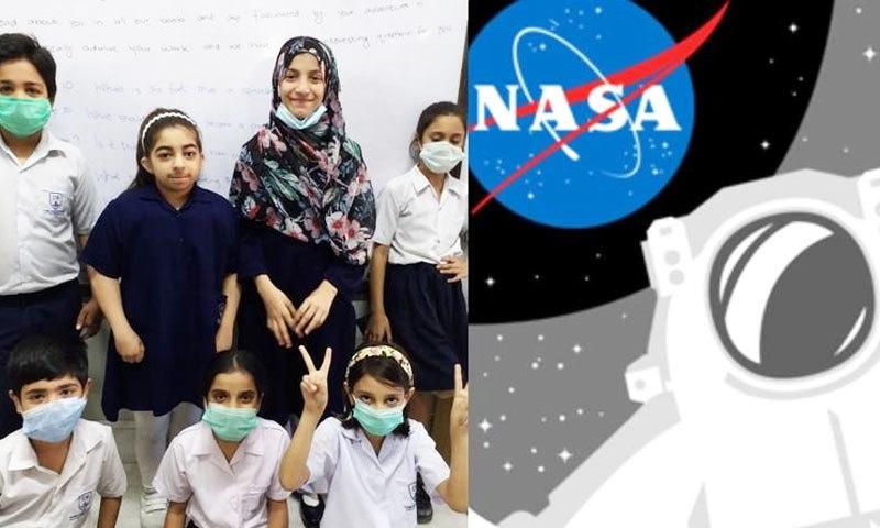 طلبہ جوابات موصول ہونے پر خوش دکھائی دیے—فوٹو: ٹوئٹر/ ناسا فیس بک