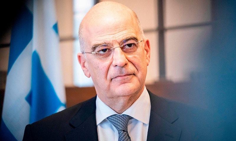 Greek Foreign Minister Nikos Dendias. — AFP/File