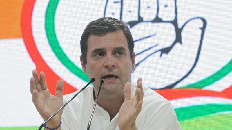 راہول گاندھی نے بی جے پی کو شدید تنقید کا نشانہ بنایا—فائل/فوٹو:رائٹرز