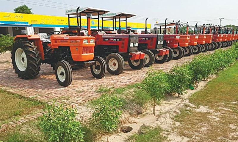 The production of tractors surges by over 21pc in August.