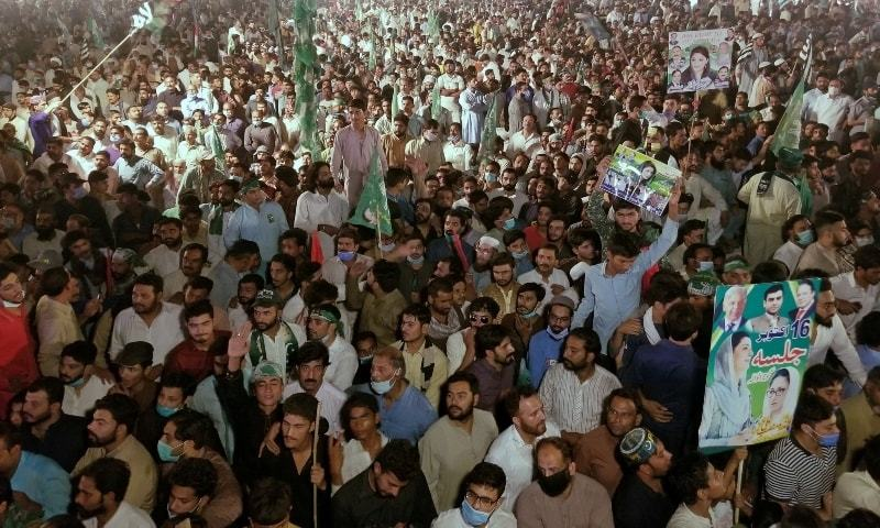 It is difficult to draw a comparison between the scenes inside Jinnah Stadium with any PML-N rallies in memory