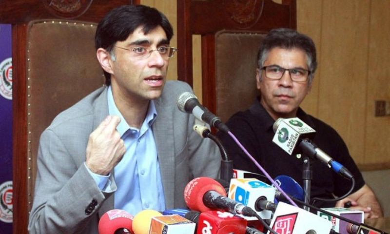 Special Assistant to the Prime Minister on National Security and Strategic Policy Planning Dr Moeed Yusuf speaks during Meet the Press programme at Press Club on Saturday. — APP