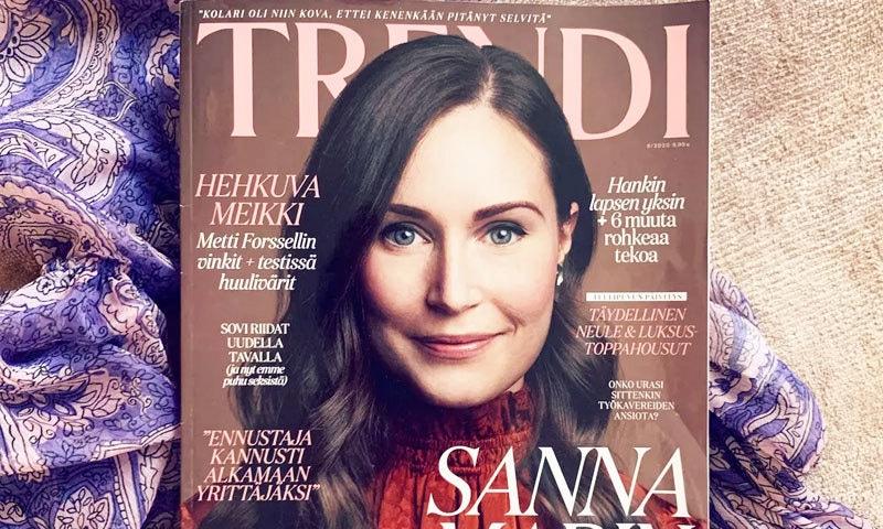 سانا مارین کو اکتوبر 2020 کے شمارے کی زینت بنایا گیا—فوٹو: ٹرینڈی میگزین