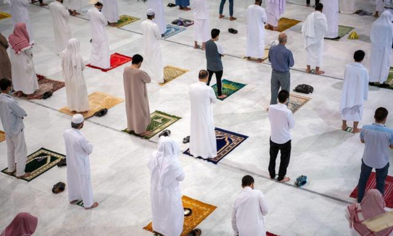 Muslims pray in the Grand Mosque for the first time in months since the coronavirus restrictions were imposed, after they were allowed by the Saudi authorities, in the holy city of Makkah, Saudi Arabia on October 18. — Reuters