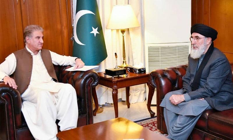 گل بدین حکمت یار آج 3 روزہ دورے پر پاکستان پہنچے تھے—تصویر: وزارت خارجہ فیس بک