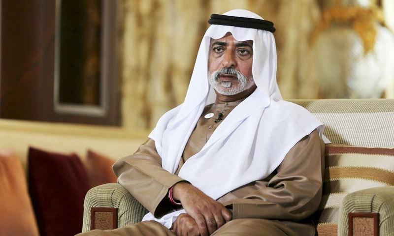 شیخ نہیان بن مبارک النہیان نے الزامات کو جھوٹا قرار دے دیا—فوٹو: اے پی