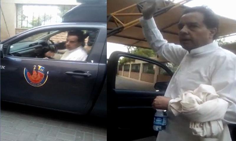 کیپٹن (ر) محمد صفدر کو ہوٹل سے گرفتار کیا گیا تھا— فوٹو: ڈان نیوز