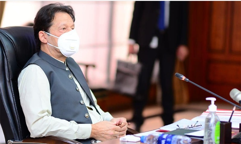 Prime Minister Imran Khan presided over a meeting of the federal cabinet on Tuesday. — Photo courtesy Prime Minister's Office Twitter