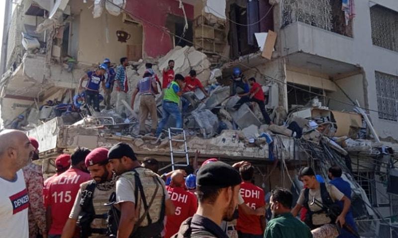 دھماکے سے عمارت کو شدید نقصان پہنچا—فوٹو: ٹوئٹر
