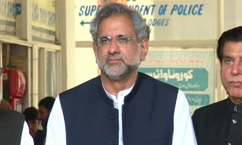 اسلام آباد میں اپوزیشن جماعتوں کے اتحاد پاکستان ڈیموکریٹک موومنٹ کے رہنما پریس کانفرنس کررہے تھے —تصویر: ڈان نیوز