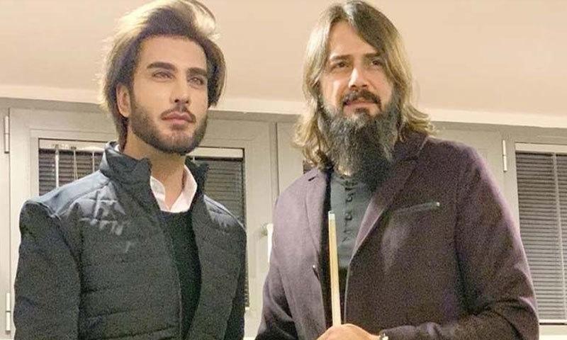 دونوں اداکار کی تصاویر اس وقت وائرل ہوئیں جب جیم اوجان نے ملاقات پر عمران عباس کا شکریہ ادا کیا— فوٹو: انسٹاگرام