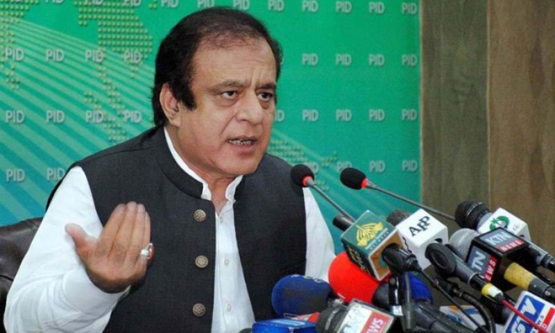 Minister for Information Shibli Faraz addresses a press conference in Islamabad on Wednesday. — APP
