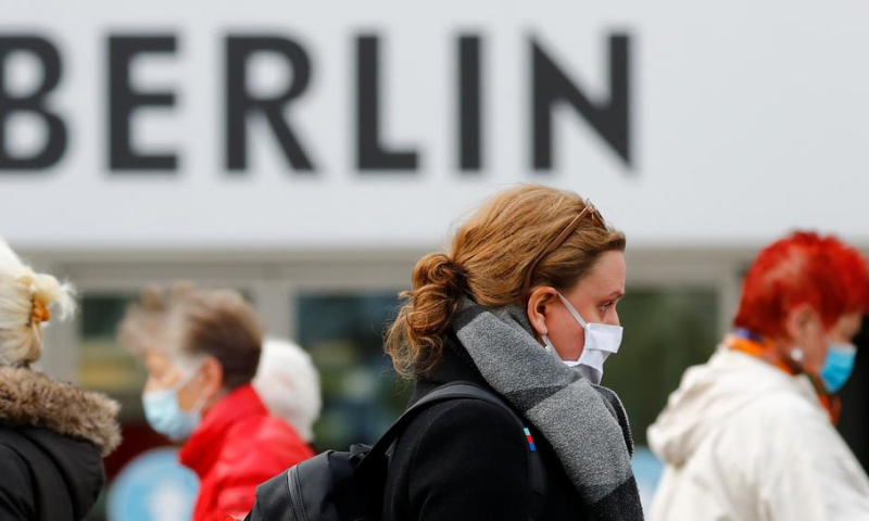 People wearing face masks are pictured at Schloss Strasse shopping street, as the coronavirus outbreak continues, in Berlin, Germany on Oct 20. — Reuters