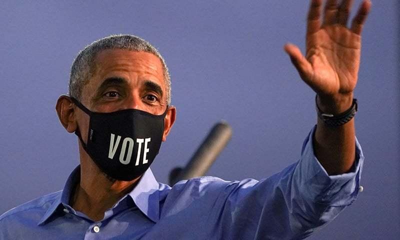 سابق امریکی صدر براک اوباما نے جو بائیڈن کی انتخابی مہم میں حصہ لیتے ہوئے ڈونلڈ ٹرمپ پر سخت تنقید کی — فائل فوٹو:رائٹرز
