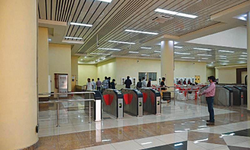 The Orange train underground station at Jain Mandir Chowk. — White Star