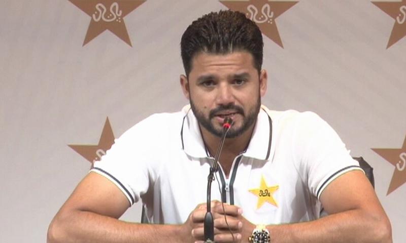 Azhar Ali speaks to the media. — DawnNewsTV/File