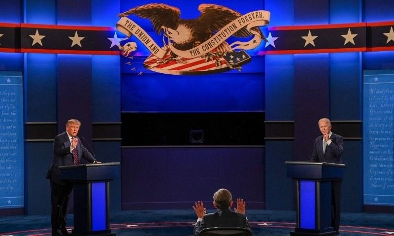 امریکی انتخابات میں طویل عرصے بعد اسلاموفوبیا، دہشتگردی کے خلاف جنگ یا افغانستان سے انخلاء کے بجائے مقامی مسائل زیر بحت ہیں—فوٹو: اے ایف پی