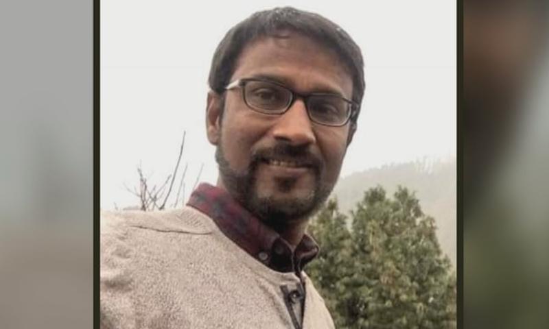 Senior Geo News reporter Ali Imran went missing in Karachi. — Photo courtesy Geo News