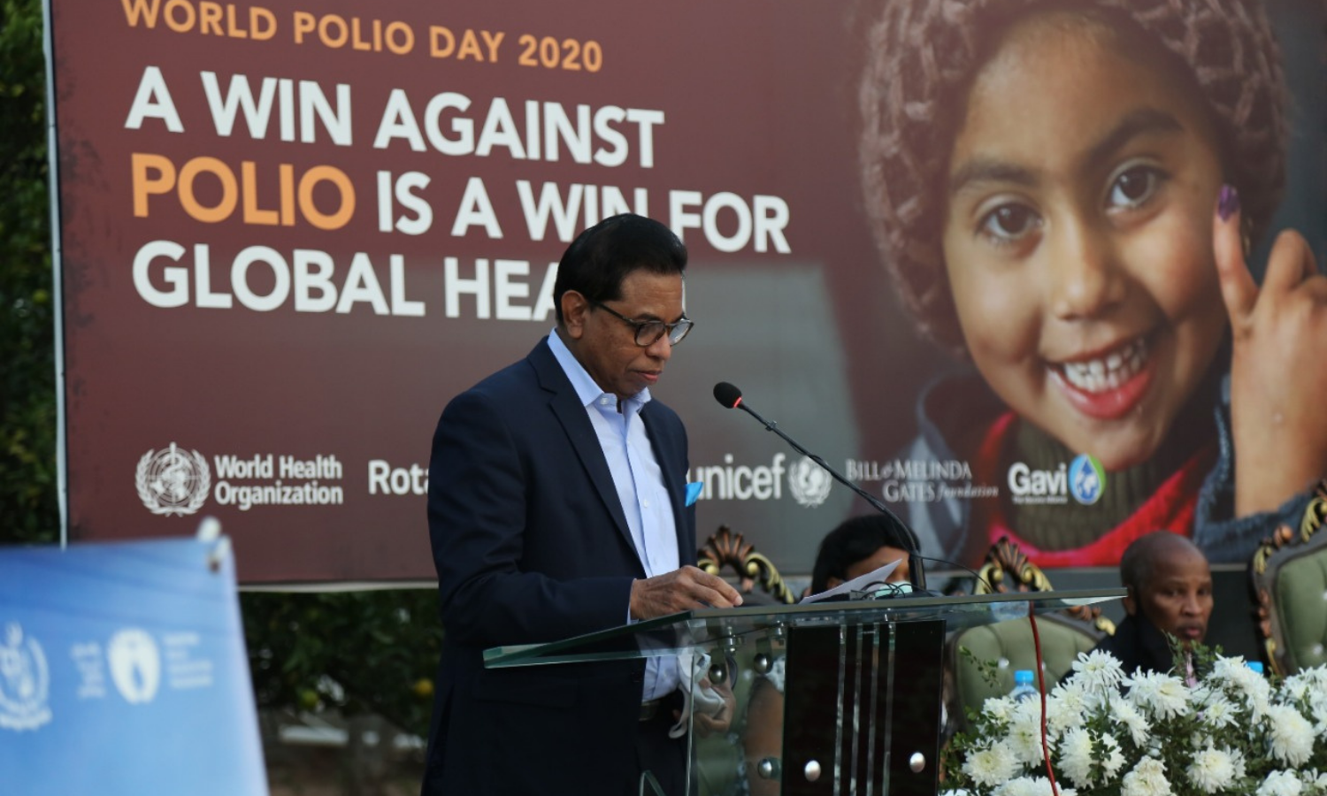Pakistan could be the next country on the journey to a polio-free world, World Health Organisation Country Representative Dr Palitha Mahipala said on Saturday. — Photo courtesy: WHO Pakistan Twitter