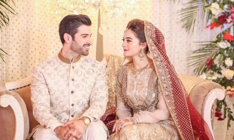اداکارہ ایمن خان  نے ایک انٹرویو میں بتایا تھا کہ منگنی کے بعد ان کی شادی کی 10 تقریبات  ہوئیں — فائل فوٹو: انسٹاگرام