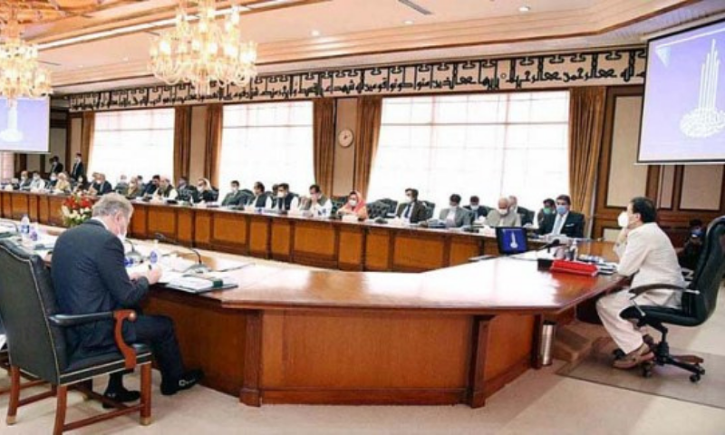Prime Minister Imran Khan chairs a meeting of the federal cabinet on Tuesday. — APP